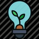 bulb, energy, growth, idea, innovative, plant, solutions