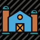 barn, building, factory, farm, harvest, silo, storage