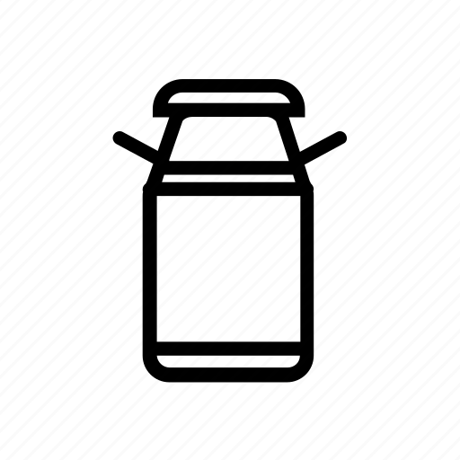 agriculture, bulb, container, milk icon