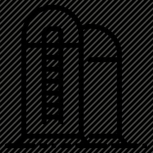 agriculture, barn, farm, grain, silo, storage, storehouse icon