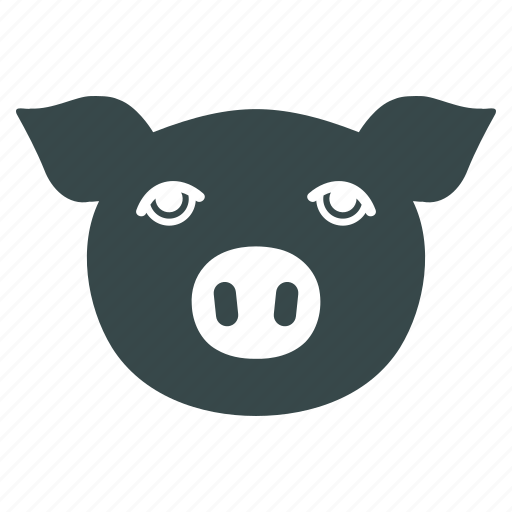agriculture, animal, domestic, farm, pig, piggy, swine icon