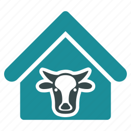 agriculture, bull, cattle, cow, farm, farming, home icon