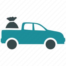 auto, car, pick up, pickup, transport, transportation, vehicle icon