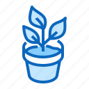 pot, house, plant icon