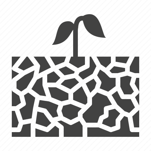 drought, erosion, plant, save, soil, water icon