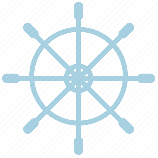 ahoy, boat, marine, rudder, sea, ship, stear icon