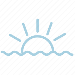 ahoy, marine, sea, sun, sunrise, sunset, sunshine icon