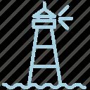 light, lighthouse, marine, sea, ship, tower, waves