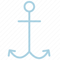 ahoy, anchor, load, marine, sea, ship, waves icon