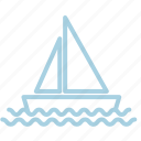 ahoy, boat, marine, sea, ship, water, waves icon