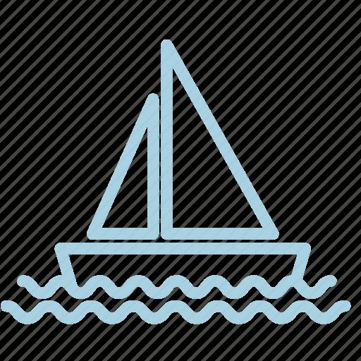 ahoy, boat, marine, sea, ship, water, waves icon