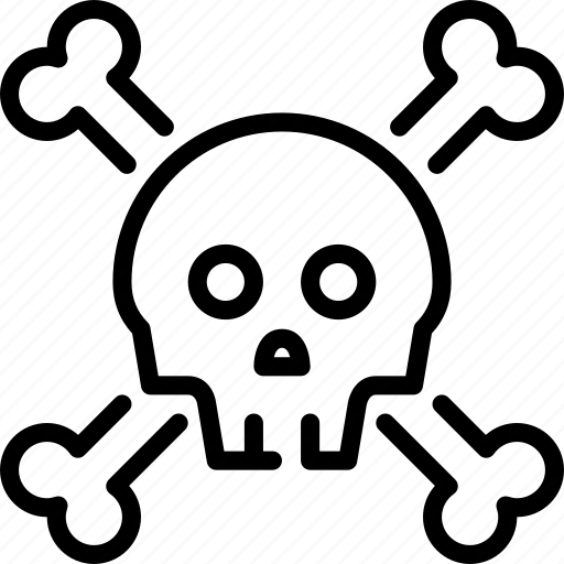 bones, dangerous, death, pirates, skull icon