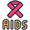 day, aids, hiv icon