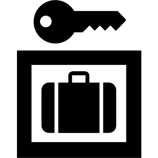 baggage, lockers icon