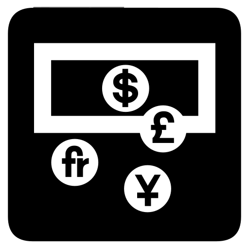 cash, currency, exchange, money icon