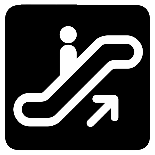 escalator, up icon