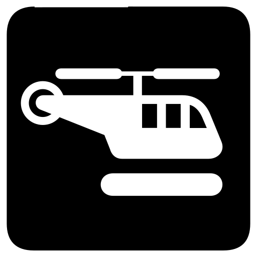 helicopter, heliport icon