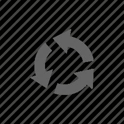 arrow, round, ventilation icon