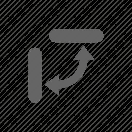 change, direction, plane icon