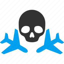 aviation, danger, death, flights, mortal, risk, skull icon