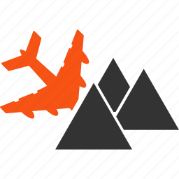 aircraft, airplane, collision, crash, damage, mountains, piramides icon