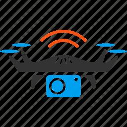 cia spy, detective, drone, flying copter, photo, quadcopter, secret service icon