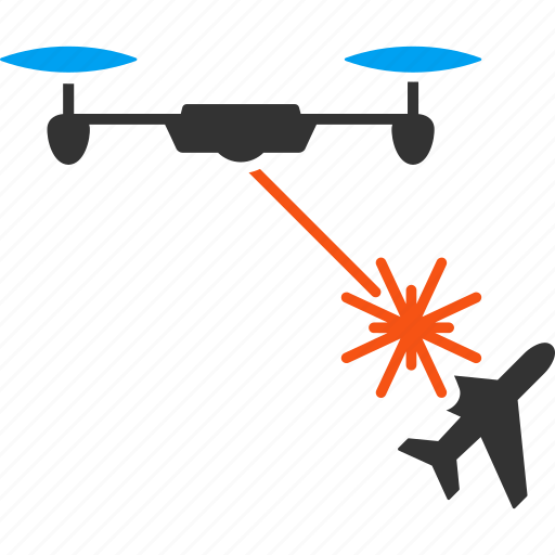 air force, aircraft, airplane, drone, laser strike, quadcopter, technology icon