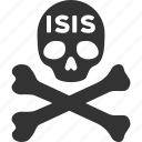 danger, dead, death, evil, isis, skull, terror icon