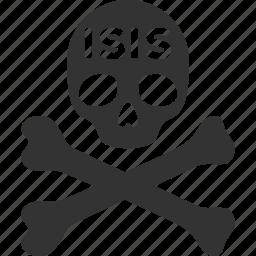 danger, dead, death, evil, isis, skull, terror icon