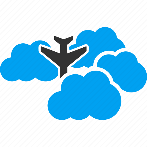 aircraft, airplane, aviation, clouds, cloudy, falling down, flight icon