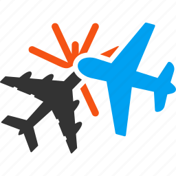 air force, aircraft, airplane, airport, aviation, collision, crash icon