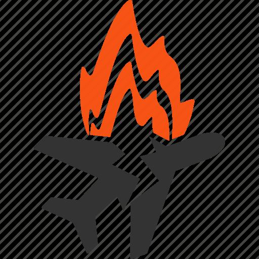 air plane, aircraft, airplane, aviation, burn, crash, fire icon