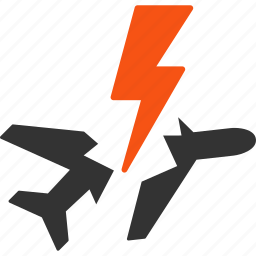 aircraft, airplane, attack, aviation, disaster, flight, strike icon