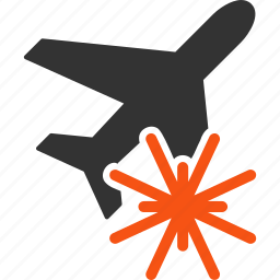 aiplane, air crash, aircraft, aviation, explosion, flight, plane icon