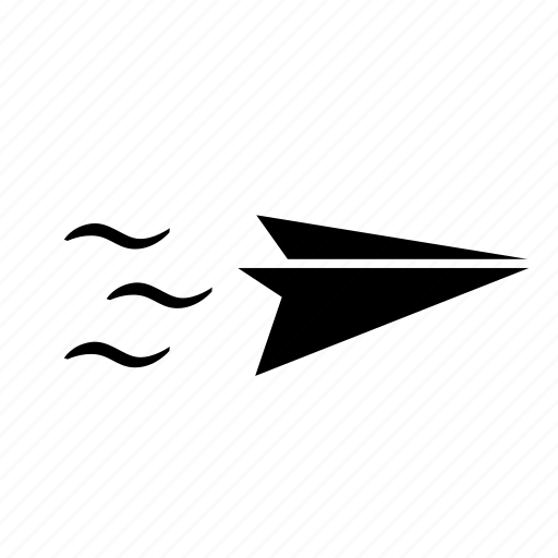 air, fly, paper, plane icon