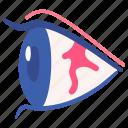 air, allergy, eye, irritation, pinguecula, pollution icon