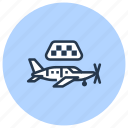 air, aircraft, airplane, jet, plane, taxi icon