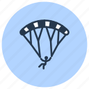 extreme, parachute, paragliding, skydiving, sport icon
