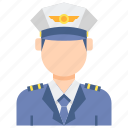 airline, captain, male