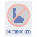 airline, flight, overbooking icon