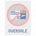 airline, flight, oversale icon
