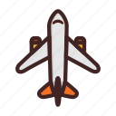 airplane, flight, plane, transport, travel icon