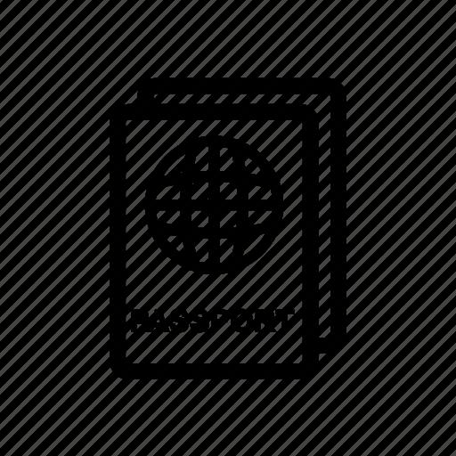 Airport, pass, passport icon - Download on Iconfinder