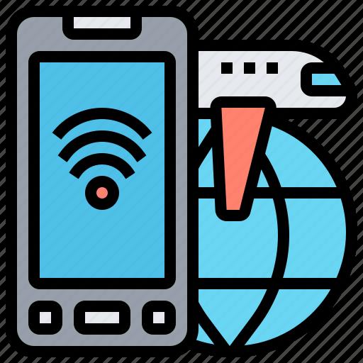 Access, communication, internet, phone, wifi icon