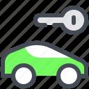 car, key, rent, rental icon