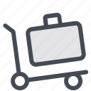 cart, delivery, suitcase, transportation, trolley, wheels icon