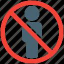 travel, restriction, crossed, ban, stickman