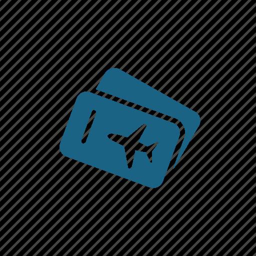 boarding pass, plane ticket, ticket icon