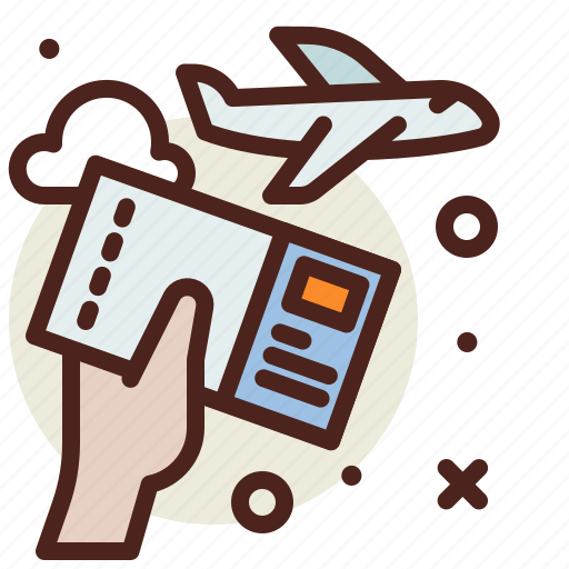 airport, boarding, flight, pass, plane, ticket, travel icon