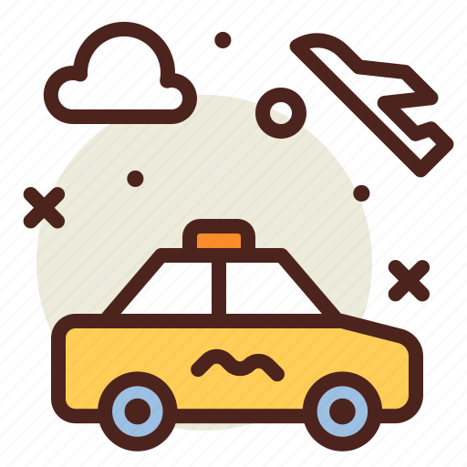 airplane, airport, cab, flight, plane, transport, travel icon